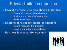 forms of business organisation igcse and as level business studies the first incorporated form of business organisation is the private limited company the owners of this type of business are those who own shares in the