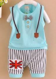 This <b>Baby Boy Sleeveless T</b>-Shirt with Pants is comfortable and ...
