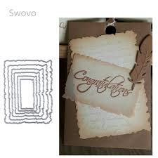Swovo Layered <b>rectangle frame Metal Cutting</b> Dies Stencils for ...