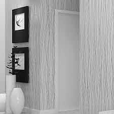 Online Shop High Quality! Grey Silver Stripes <b>Luxury Modern</b> ...