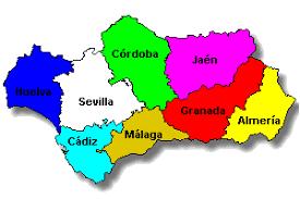 Resultado de imagen de mapa de andalucia