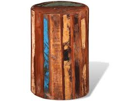 vidaXL <b>Stool Solid Reclaimed</b> Wood | vidaXL.com