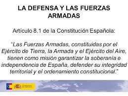 Resultat d'imatges de constitucion española ejercito