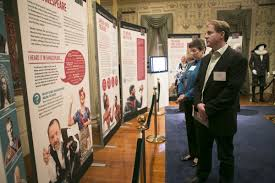 big book on campus shakespeare s first folio drew today drew the first folio exhibit in mead hall includes panel displays