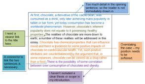 model essay english essay writing  english for uni redrafting example