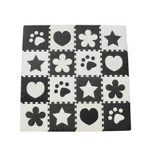 <b>10pcs</b> Black White <b>Baby</b> Play Mat <b>EVA</b> Foam Puzzle Mat Cartoon ...