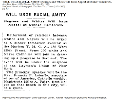 the harlem renaissance and race relations themodernismproject a short article appearing in a 1936 publishing in the new york times speaks of a