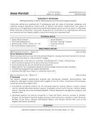 resume it technicianit technician resume sample