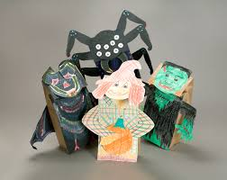 spooky adventures ca paper bag puppets act out halloween stories