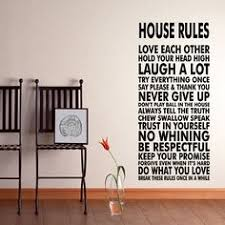 House Rules <b>Vinyl Wall Decal</b> Sticker We Do Art <b>Vinyl Poster</b> Print ...