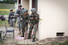 u s department of defense photo essay n army iers stack against a wall u s paratroopers while clearing a mock village during