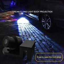 Tcart 2pcs <b>Car LED</b> Lamps Door <b>Welcome</b> Lights Angel Wings Logo ...