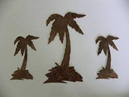 tree scene metal wall art: wall art designs palm tree wall art palm tree set of  metal wall art