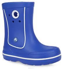<b>Сапоги резиновые</b> детские <b>Crocs</b> Crocband Jaunt, цвет: синий ...