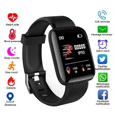 <b>116 PLUS</b> Sport Fitness Pedometer Color Screen Smart Bracelet ...
