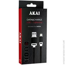 <b>Akai USB</b>-<b>Apple</b> Lightning 1м, черный (<b>CE</b>-606B)