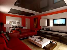 Living Room Cabinets Designs Dazzling Living Room Paint Ideas With Red Wall Color Furnished