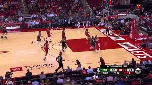 Giannis Antetokounmpo stuffs James Harden at the rim in the third ...