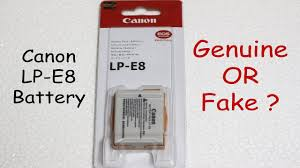 <b>Canon LP-E8</b> Battery - How to spot the FAKE !!! - YouTube