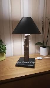 Wood Table <b>Lamp</b>.Led Bulb.HandMade.Woodlamp.Rustic <b>lamp</b> ...
