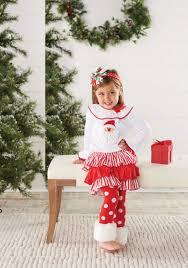 Baby or Toddler Girls Christmas Outfit: <b>Santa Fur</b> Cuff Legging Set ...