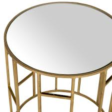 dining room table mirror top: safavieh doreen x round accent table in gold w mirror top