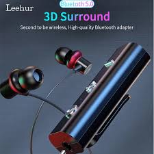 <b>Leehur</b> Lavalier <b>Bluetooth 5.0 Receiver</b> for 3.5mm Car Handfree ...
