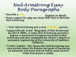 prompttopic which character traits can you justify that neil  neil armstrong essay body paragraphs describe a trait show support for why you chose that trait