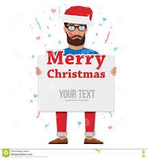 merry christmas man the board stock vector image  merry christmas man the board