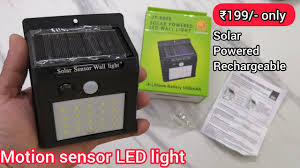 <b>Solar</b> Powered <b>Motion sensor</b> led wall <b>light</b> unboxing - YouTube