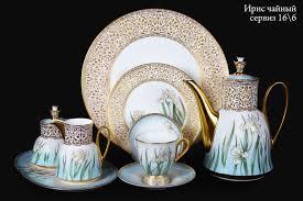 "Чайный сервиз ""Ирис"" на 6 персон   костяной фарфор, <b>Hankook</b> ..."