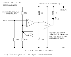 voltage comparators comparator time delay schematic 1
