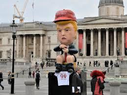 <b>Trump</b> protests: Giant model <b>of president</b> sitting <b>on</b> golden <b>toilet</b> ...