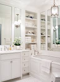 recessed shelves bathroom traditional with metal and glass lantern pendant light mirror above bath tub bathroom vanity mirror pendant lights glass
