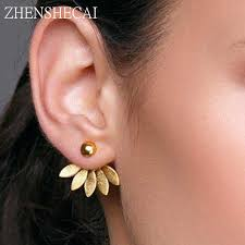 Hot popular Figure <b>Face</b> stud <b>Earrings</b> For Women Girls Fashion ...