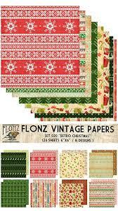 Paper <b>Pack</b> (<b>24sh</b> 15x15cm) <b>Retro</b> Christmas FLONZ <b>Vintage</b> Paper ...