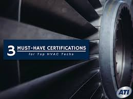 must have hvac certifications for top techs