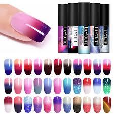 <b>LILYCUTE 5ml Thermal Color</b> Changing Nail Gel Polish 3 layers ...