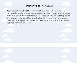 tips for writing a personal narrative purpose and audience narrative essay setting describing important places