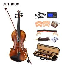 ammoon <b>Handmade</b> Antique <b>4/4 Full</b> Size Violin Fiddle Kit <b>Pro</b> ...