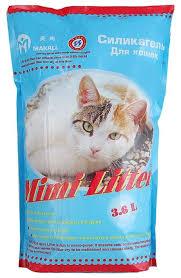 Впитывающий <b>наполнитель Mimi Litter Силикагель</b> Для кошек 3.6 л