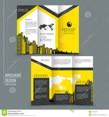 tri fold template brochure for business advertising stock vector tri fold template brochure for business advertising