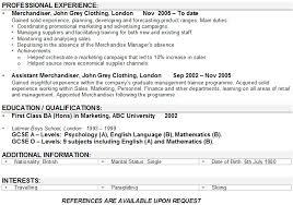 Resume Example Retail  retail experience resume sample