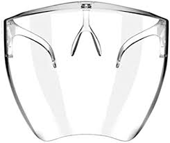Mississ Reusable <b>Face Shield Glasses</b>, Clear and <b>Anti</b>-<b>Fog</b> Safety ...