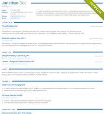 Online Resume Builder & Templates, CV Maker | Resumonk Resume Template - 'Collegium' | Create ...