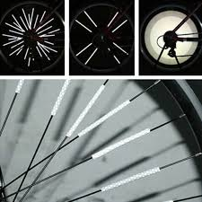 <b>1 Pair</b> bicycle spoke reflector warning light <b>bicycle wheel</b> rim ...