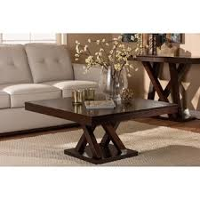 profile coffee table designer kitchen faucets white everdon dark brown modern coffee table