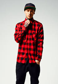 <b>Рубашка URBAN CLASSICS</b> Checked Flanell Shirt (Black/Red ...