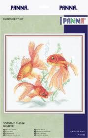 """Цена на <b>Набор для вышивания</b> PANNA """"<b>Золотые</b> рыбки"""" в ..."""