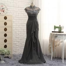 Luxury / Gorgeous Grey Trumpet / Mermaid Mother Of The Bride ...
